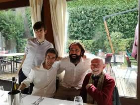 Luca Gonzatto con Thomas Torelli, Emiliano Toso e Franco Berrino